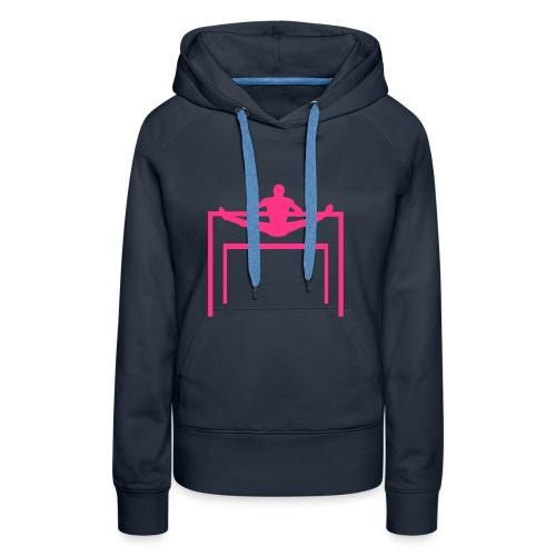 Barres asymétriques - Sweat-shirt à capuche Premium pour femmes