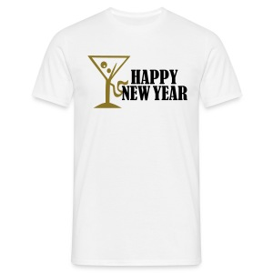 Happy Newyear - goud metallic - Mannen T-shirt