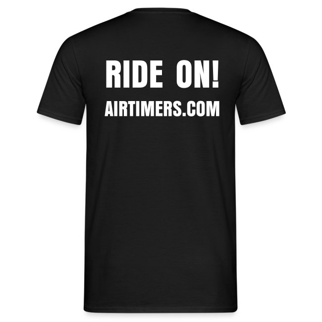"T-Shirt mit ""Ride On!"" Backprint"