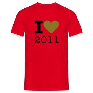I Love 2011 - goud metallic - Mannen T-shirt