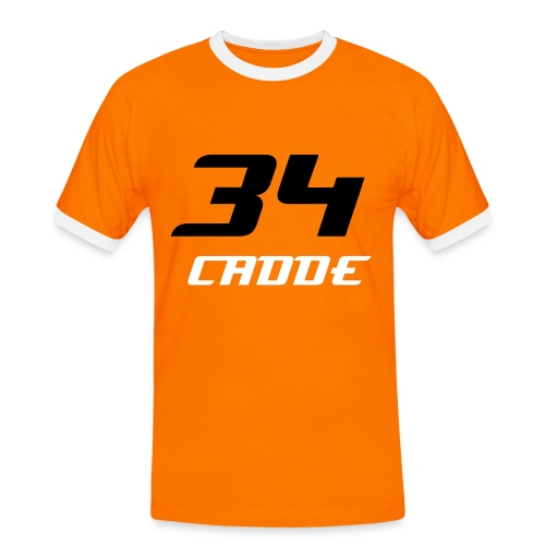 Cadde34 Orange - Männer Kontrast-T-Shirt