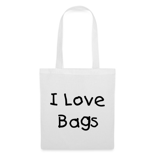I Love Bags White Tote Bag - Tote Bag