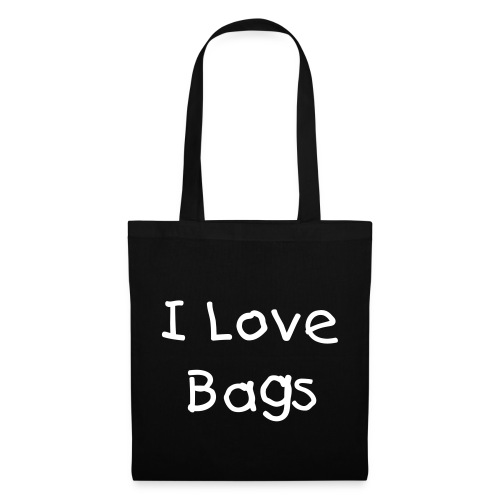 I Love Bags Black Tote Bag - Tote Bag