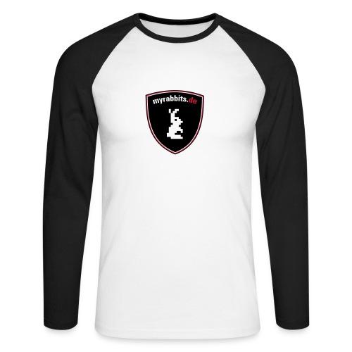 myrabbits Baseballshirt Big Logo - Männer Baseballshirt langarm