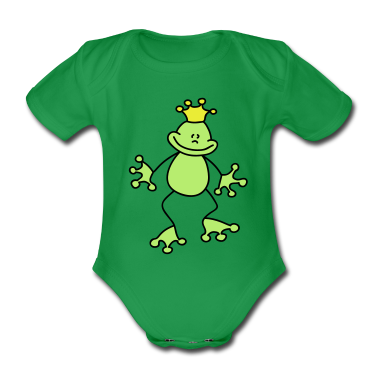 Sweet little frog king Baby Bodysuits