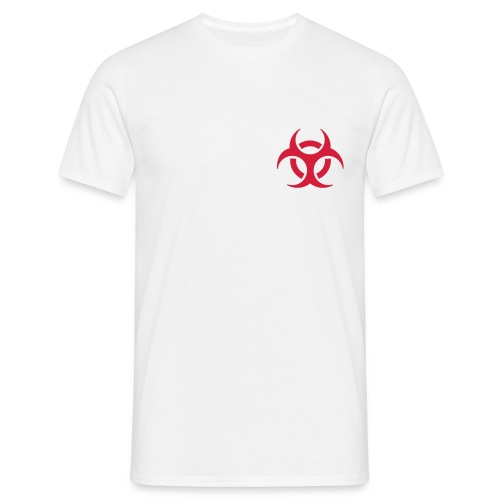 biohazard below - Men's T-Shirt