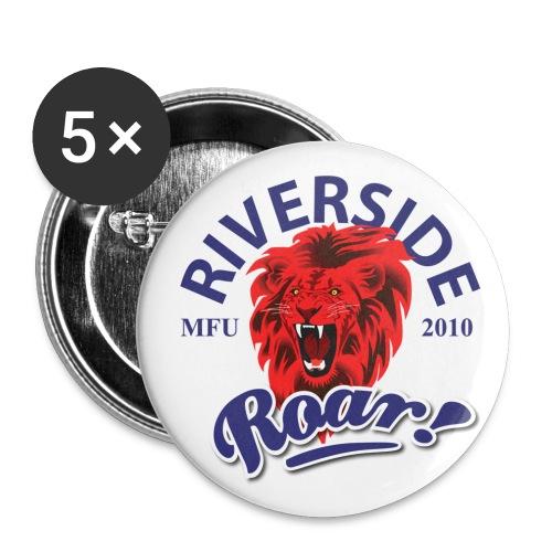 Riverside Roar Badge (red) - Buttons medium 1.26/32 mm (5-pack)
