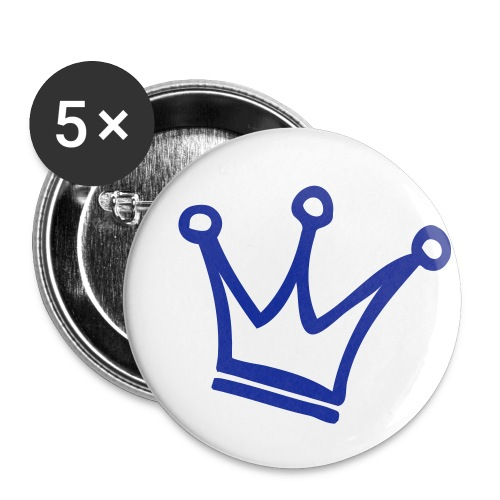 Crown Maund's Blue Badges - Buttons small 1''/25 mm (5-pack)