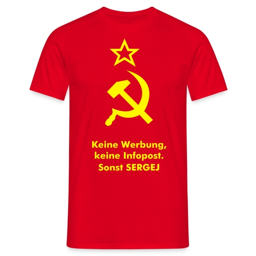 Red Peace - Männer T-Shirt