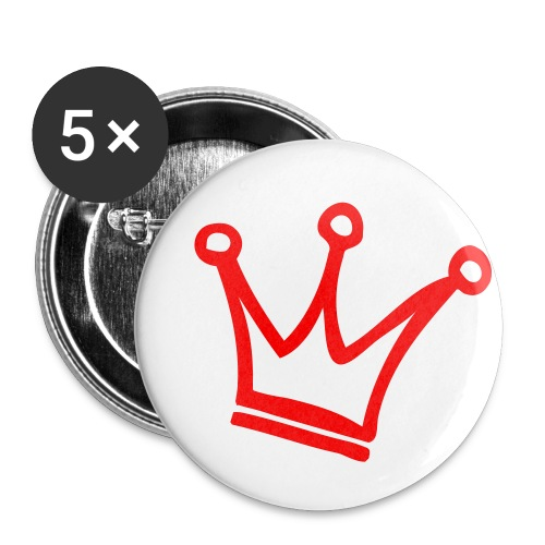 Crown Maund's Red Badges - Buttons small 1''/25 mm (5-pack)