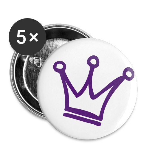 Crown Maund's Purple Badges - Buttons small 1''/25 mm (5-pack)