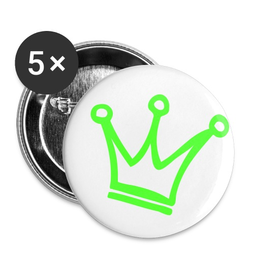 Crown Maund's Neon Green Badges - Buttons small 1''/25 mm (5-pack)