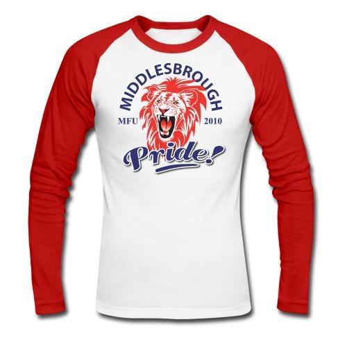 Midlesbrough Pride - Men's Long Sleeve Baseball T-Shirt