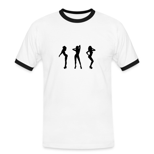 Dancing Gogos - Männer Kontrast-T-Shirt