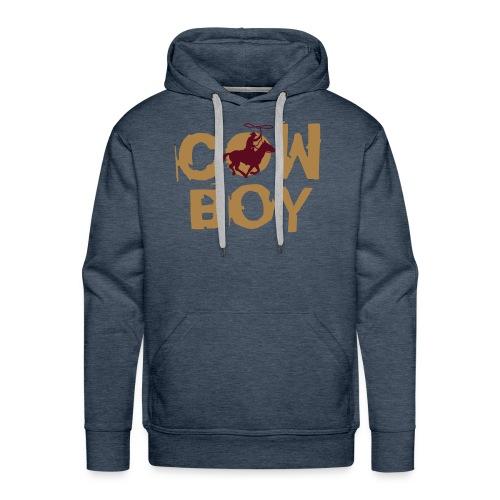 Männer Kapuzenpullover Cowboy - Männer Premium Hoodie