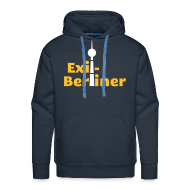 Pullover & Hoodies ~ Männer Premium Kapuzenpullover ~ Exil-Berliner - Männer Kapuzenpullover