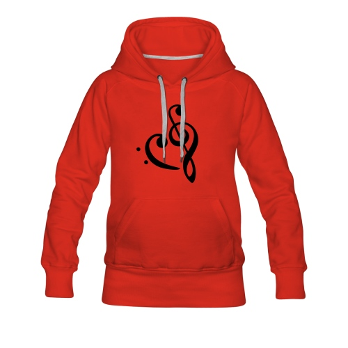 I love music - Frauen Premium Hoodie
