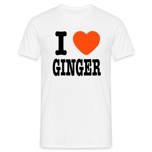 I Love Ginger - Men's T-Shirt