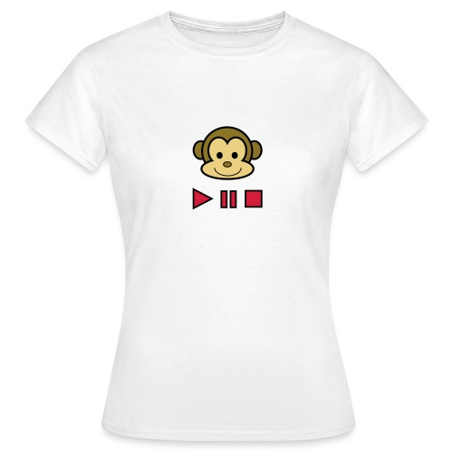 Ladies Music Monkey T-Shirt - Women's T-Shirt