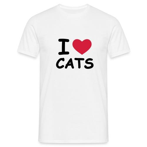 i love cats t-shirt - Men's T-Shirt