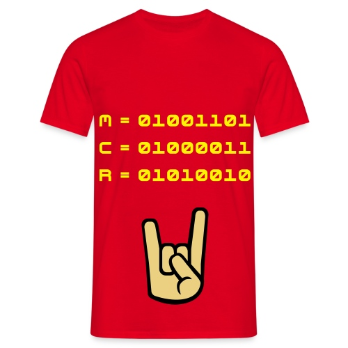 M.C.R in ASCII - Men's T-Shirt