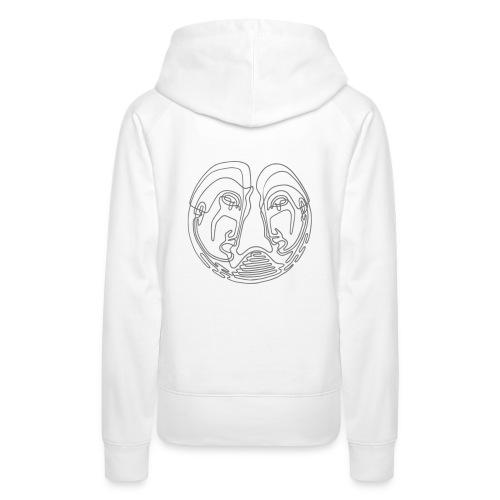 VARGO | Friendship (grey/white) - Frauen Premium Hoodie