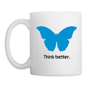 Think Better MorphOS, blau-schwarz - Tasse