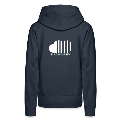 find your sky ::::::::::::::::::: motif on the back - Women's Premium Hoodie