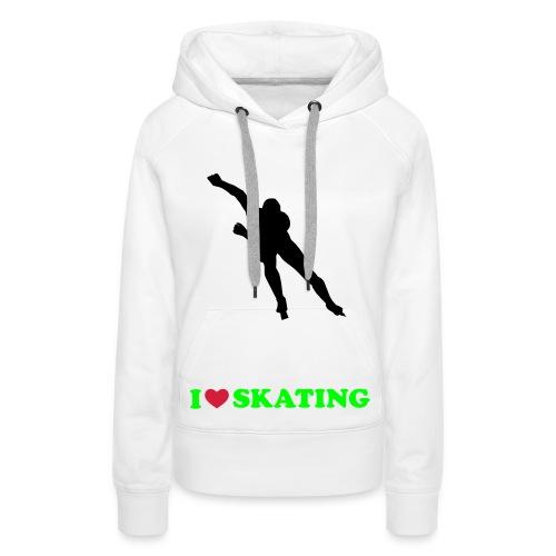 Ice Skating - Vrouwen Premium hoodie