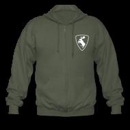 Hoodies & Sweatshirts ~ Men's Premium Hooded Jacket ~ Prancing moose, more colours