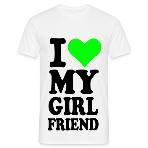 I love my girlfriend - Männer T-Shirt