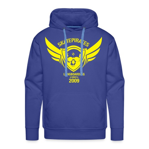 SKATEPIRATES Hoodie Boys born to skate force to work (blue/yellow) I - Männer Premium Hoodie