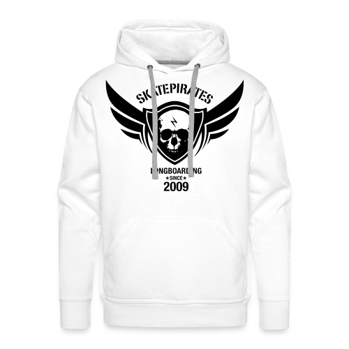 SKATEPIRATES Hoodie Boys born to skate force to work  (white/black) - Männer Premium Hoodie