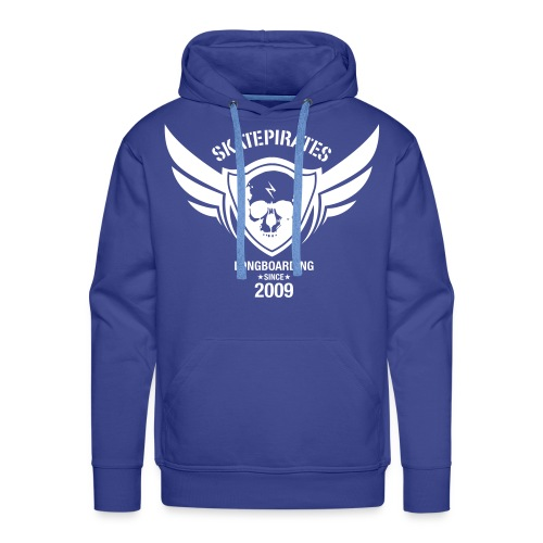 SKATEPIRATES Hoodie Boys born to skate force to work  (blue/white) - Männer Premium Hoodie