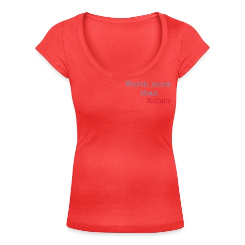 More than rubies - Women's Scoop Neck T-Shirt
