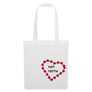 tote bag with red heart - Tote Bag