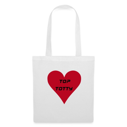 top totty tote bag with lrg red heart - Tote Bag