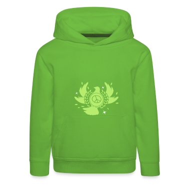 A peace dove with laurel wreath and peace sign  Kids' Tops