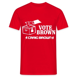 Vote Brown - Men's T-Shirt
