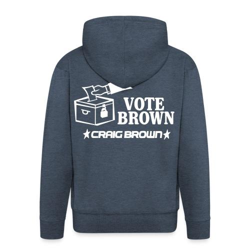 Vote Brown - Men's Premium Hooded Jacket