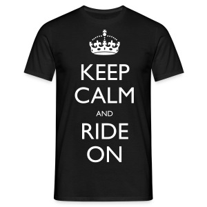 Men's T-Shirt - bike,biker,keep calm,motorbike,motorcycle,ride,rider