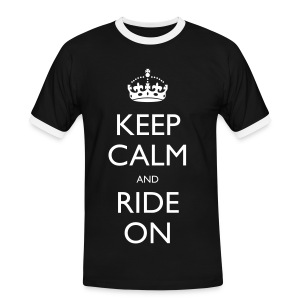 Men's Ringer Shirt - bike,biker,keep calm,motorbike,motorcycle,ride,rider