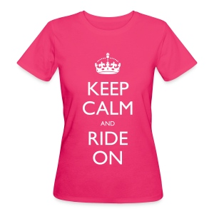 Women's Organic T-shirt - bike,biker,keep calm,motorbike,motorcycle,ride,rider