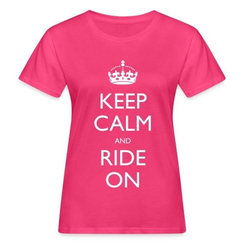 Women's Organic T-shirt - bike,biker,keep calm,motorbike,motorcycle,ride,rider