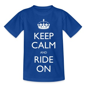 Teenage T-shirt - rider,ride,motorcycle,motorbike,keep calm,biker,bike