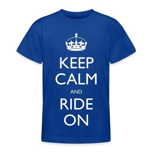 Teenage T-shirt - rider,ride,motorcycle,motorbike,keep calm,biker,bike