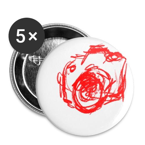 Kamera - Skizze - Buttons klein 25 mm (5er Pack)