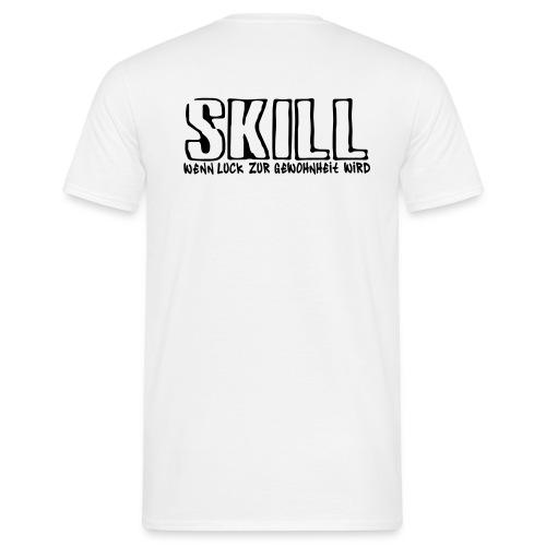 DNF Männer T-Shirt mit Clanlogo + Nickname vorne + URL hinten - Männer T-Shirt