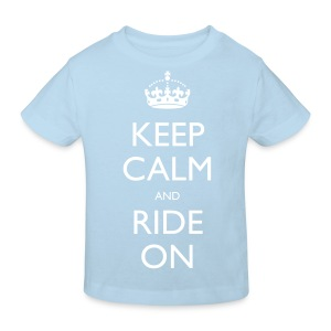 Kids' Organic T-shirt - bike,biker,keep calm,motorbike,motorcycle,ride,rider