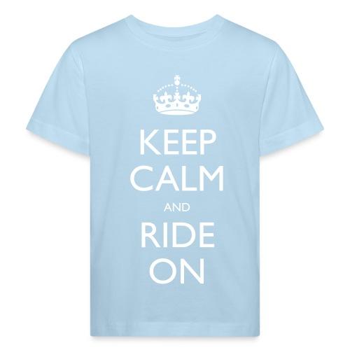 Kids' Organic T-shirt - bike,biker,keep calm,motorbike,motorcycle,ride,rider